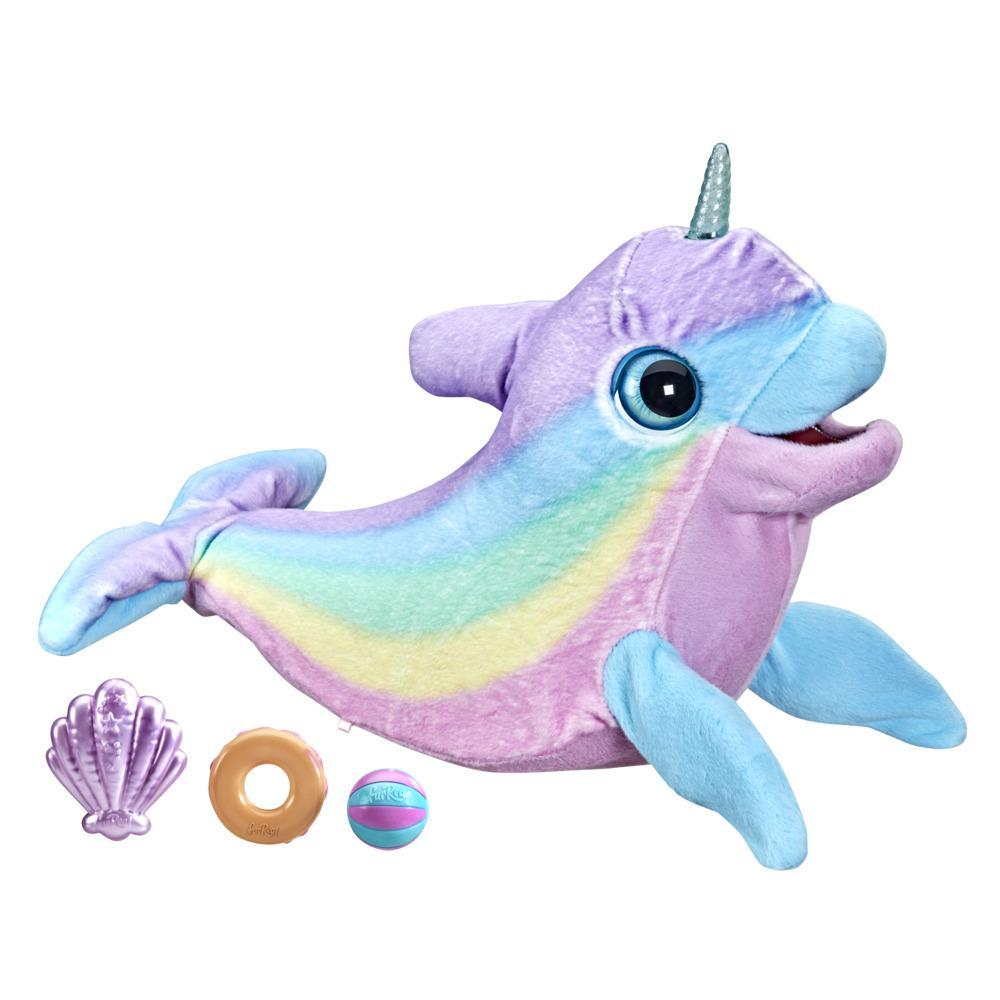 furReal Wavy the Narwhal Interactive Animatronic Plush Toy, Electronic Pet, 80+ Sounds and Reactions, Ages 4 and Up