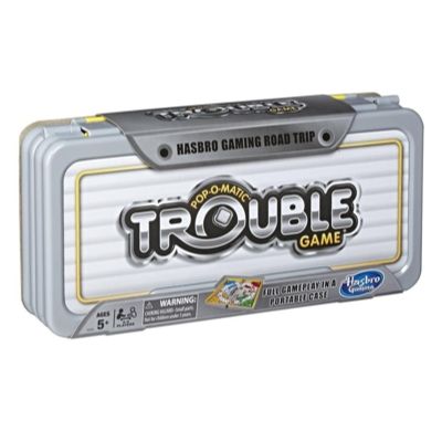 Hasbro Gaming Road Trip Series Trouble Game Portable Game to Take on the Go for Kids Ages 5 and Up