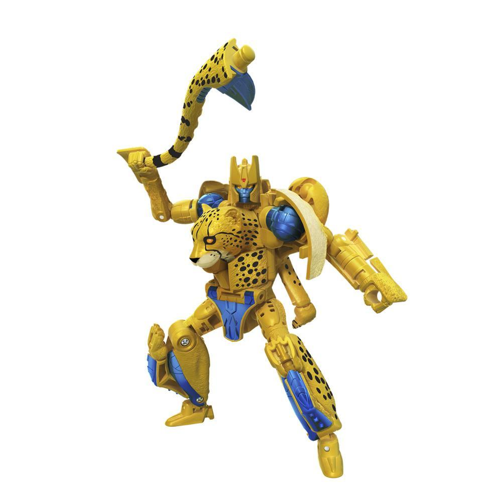 Transformers Toys Generations War for Cybertron: Kingdom Deluxe WFC-K4 Cheetor Action Figure - 8 and Up, 5.5-inch