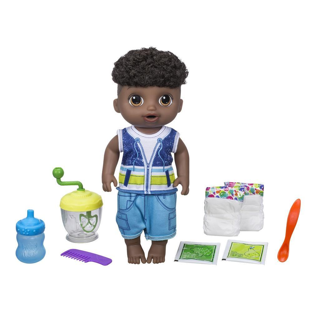 Baby Alive Sweet Spoonfuls Baby Doll Boy - Black Curly Hair