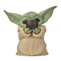 "Star Wars The Bounty Collection The Child Collectible Toy 2.2-Inch The Mandalorian ""Baby Yoda"" Sipping Soup Pose Figure"