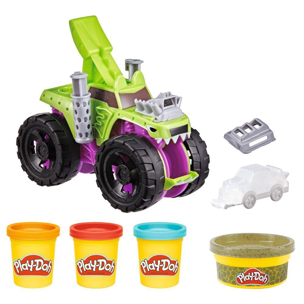 Play-Doh Wheels Chompin' Monster Truck Toy with Car Accessory and 4 Colors