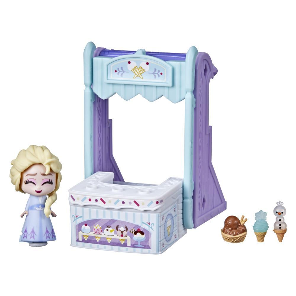 Disney's Frozen 2 Twirlabouts Series 1 Elsa Sled to Shop Playset, Includes Elsa Doll and Accessories