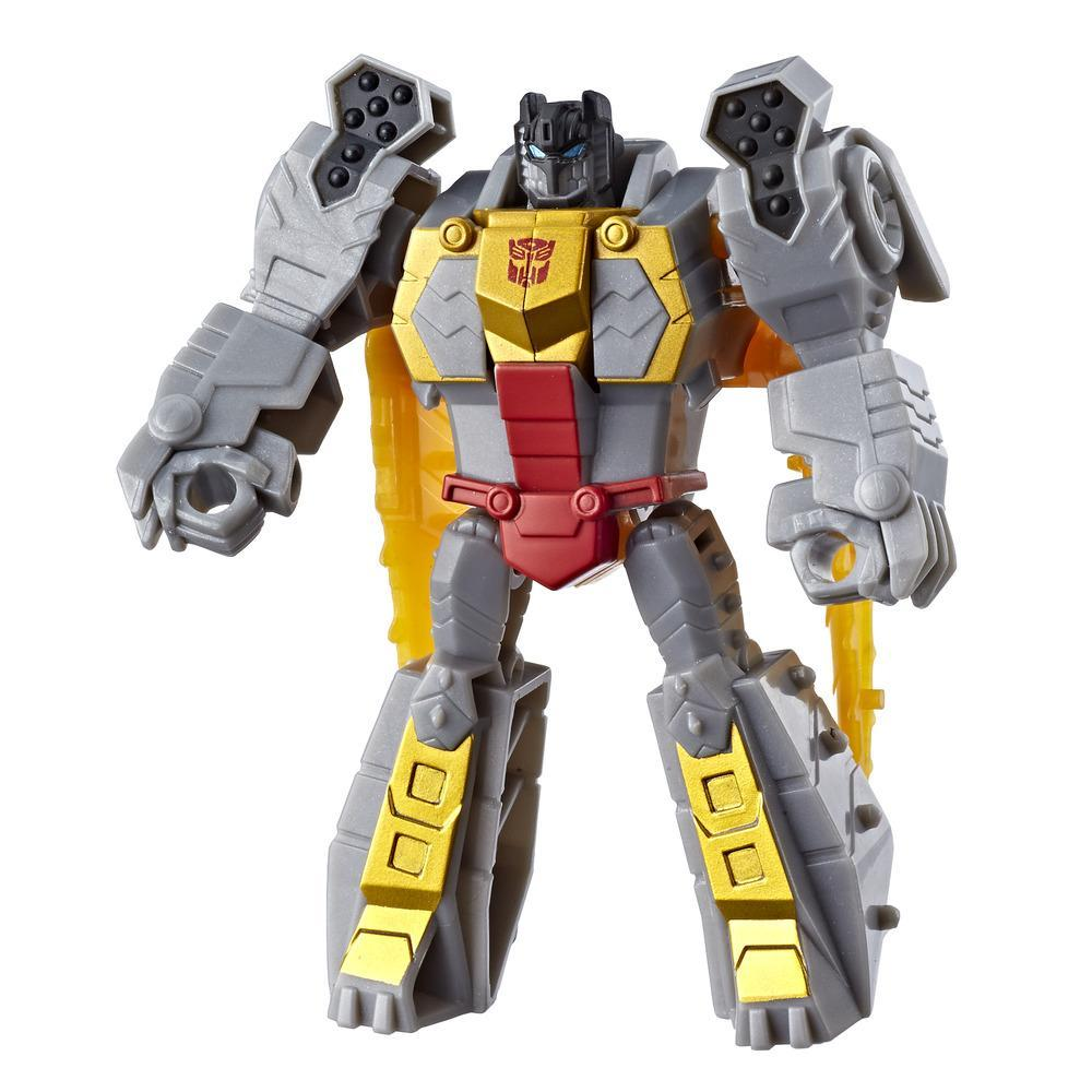 Transformers Toys Cyberverse Action Attackers Scout Class Grimlock Action Figure - Repeatable Chomp Jaw Action Attack Move - For Kids Ages 6 and Up, 3.75-inch