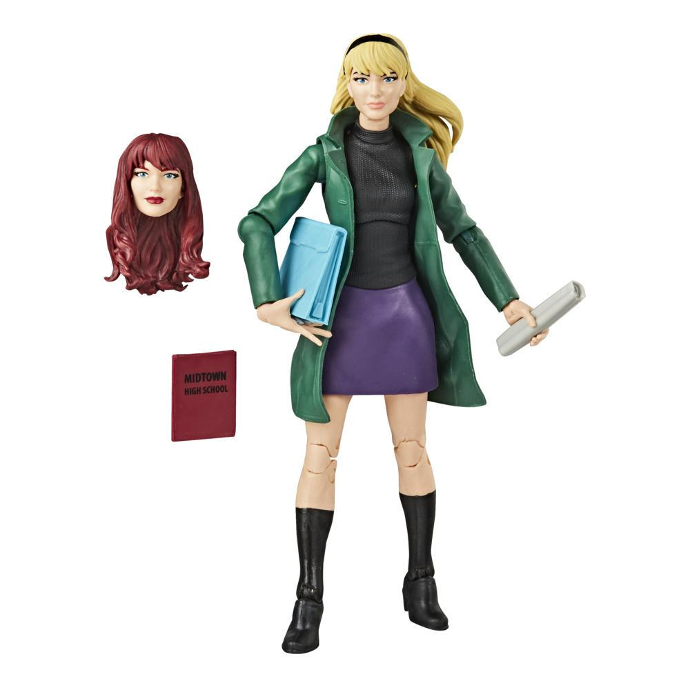 Hasbro Marvel Legends Series Spider-Man 6-inch Collectible Gwen Stacy Action Figure Toy Retro Collection