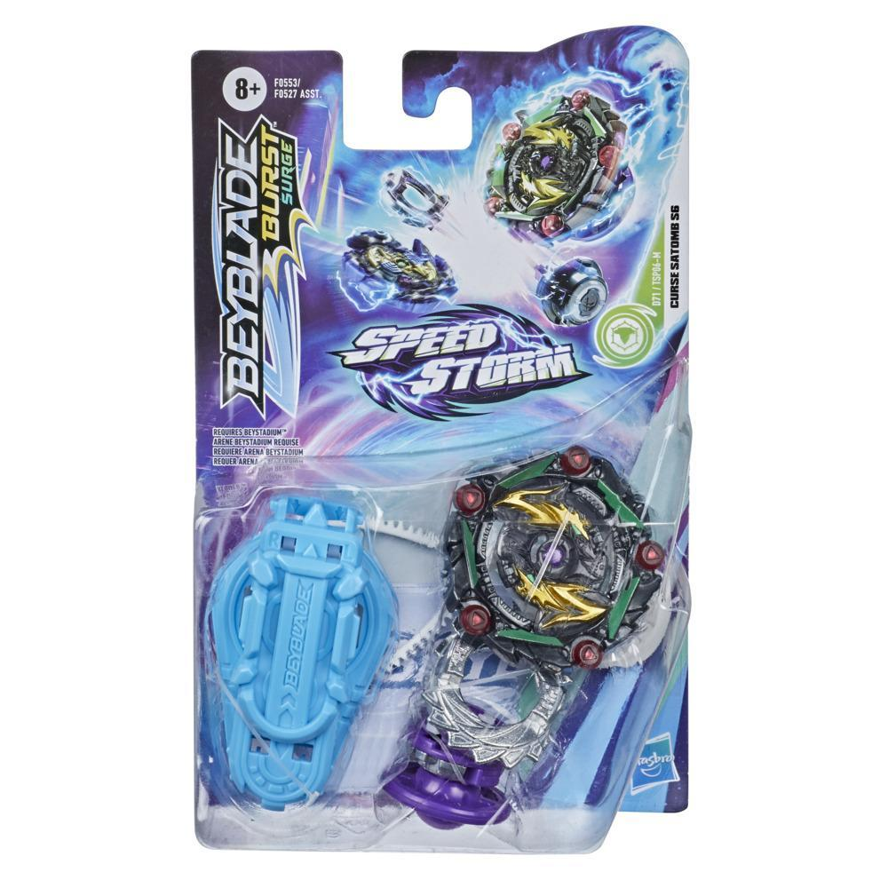 Beyblade Burst Surge Speedstorm Curse Satomb S6 Spinning Top Starter Pack -- Battling Game Top Toy with Launcher