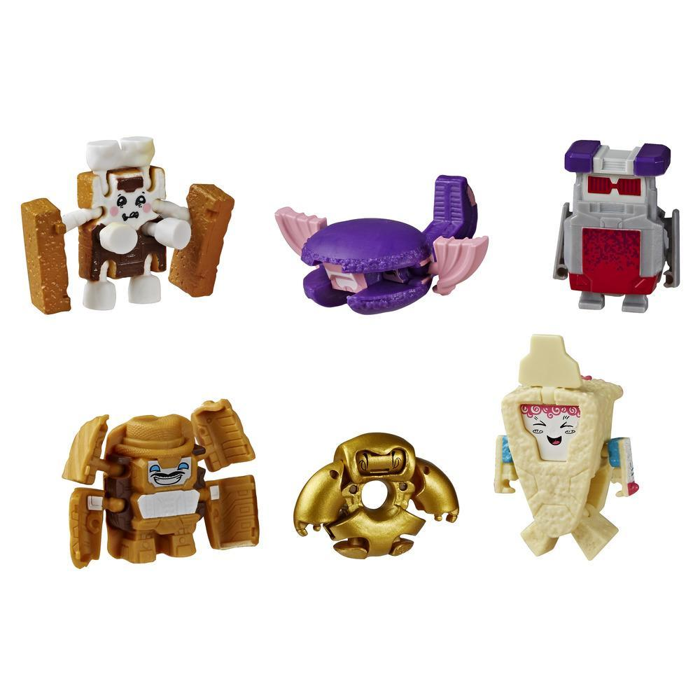Transformers Toys BotBots Surprise Unboxing: Gumball Machine - 5 Figures, 4 Stickers, 1 Rare Gold Figure - Kids Ages 5 and Up