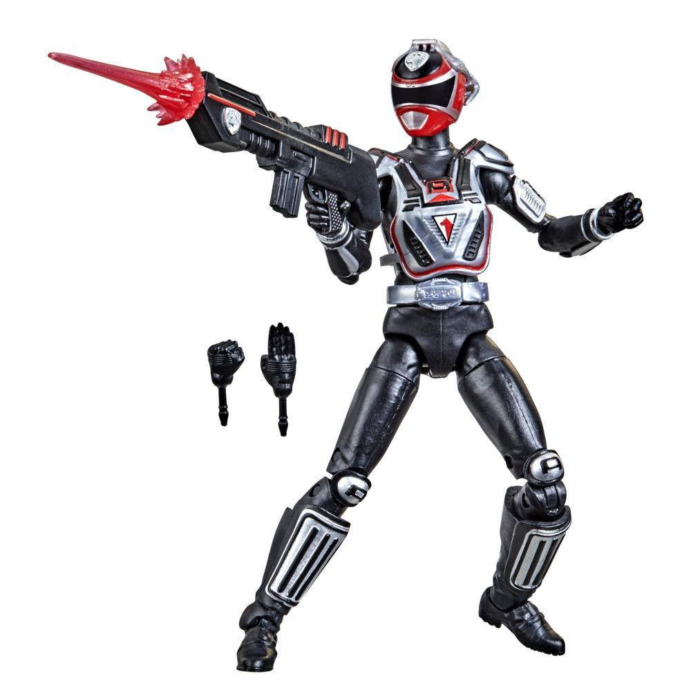 Power Rangers Lightning Collection S.P.D. A-Squad Red Ranger 6-Inch Premium Collectible Action Figure Toy, Accessories