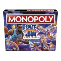Monopoly: Space Jam: A New Legacy Edition Family Board Game, LeBron James Space Jam 2 Game, for Kids Ages 8 and Up