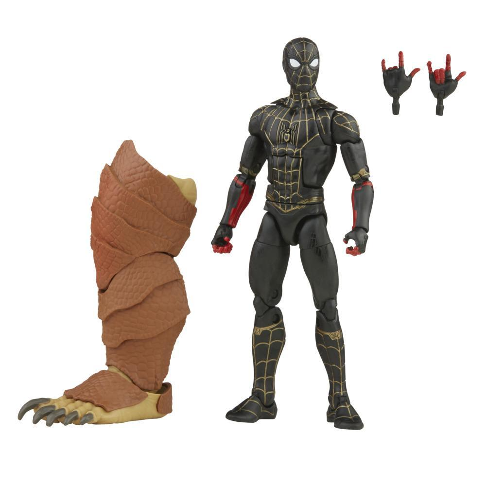 Marvel Legends Series Black & Gold Suit Spider-Man 6-inch Collectible Action Figure Toy, 2 Accessories and 1 Build-A-Figure Part(s)