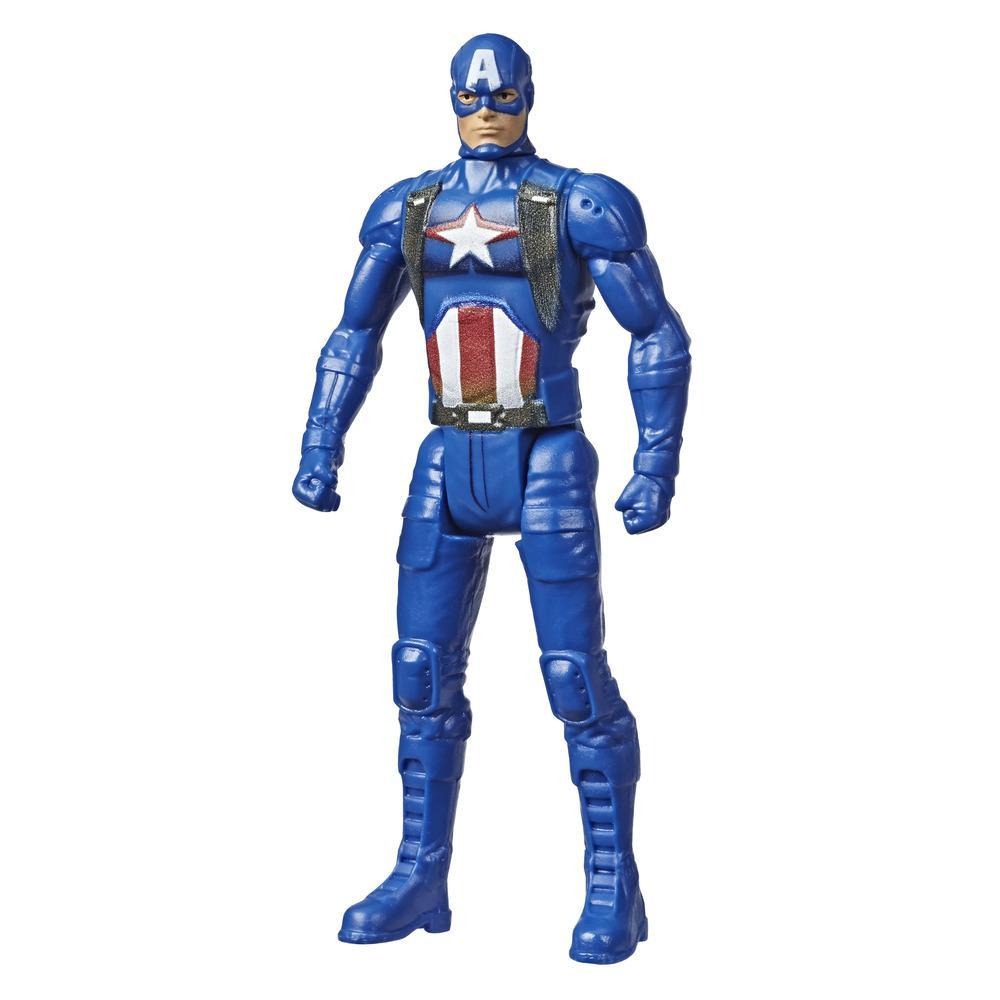 Marvel Avengers Captain America 3.75 Inch Figure, Classic Comics-Inspired Design, For Kids Ages 4 And Up