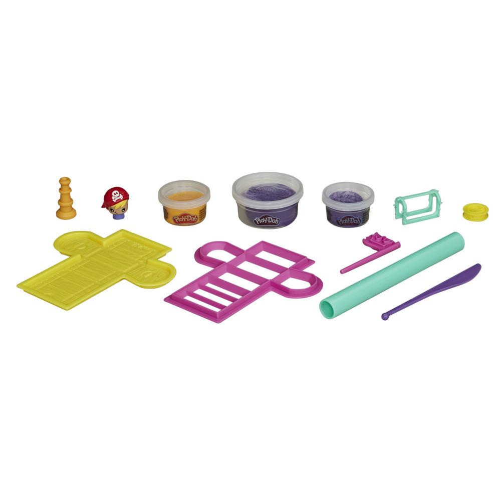 Play-Doh Builder Treasure Chest Toy Building Kit for Kids 5 Years and Up with 3 Non-Toxic Play-Doh Cans