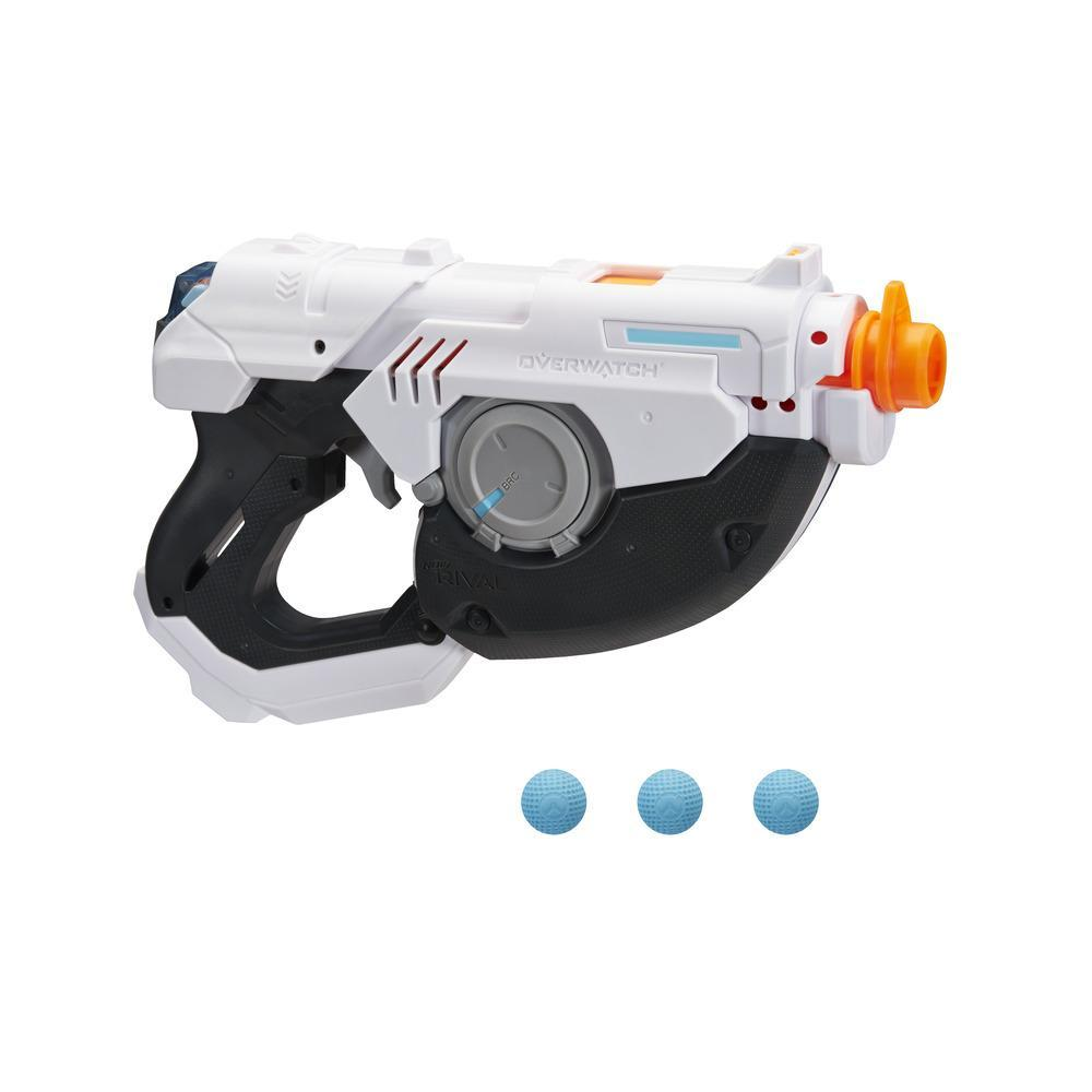 Nerf Rival Overwatch Tracer Blaster -- Spinning Reload Action, 3-Round Capacity -- Includes 3 Official Nerf Rival Rounds
