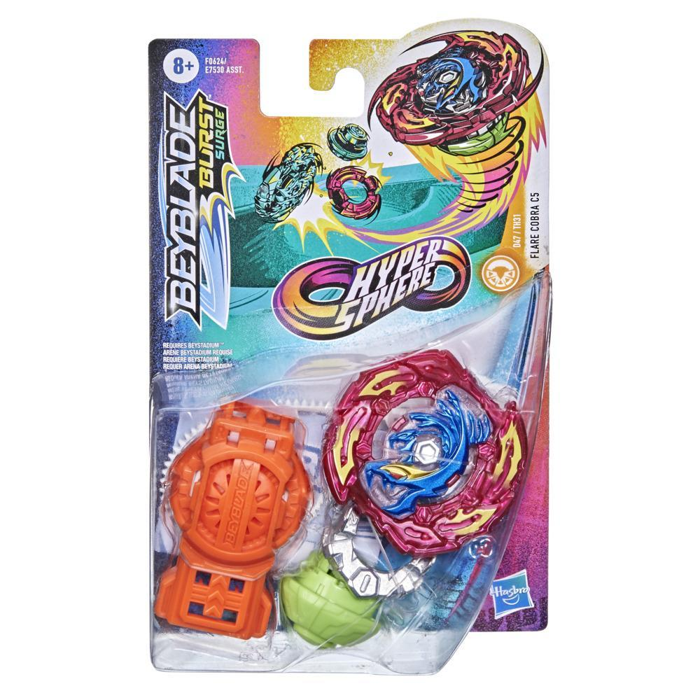 Beyblade Burst Rise Hypersphere Flare Cobra C5 Starter Pack -- Stamina Type Battling Game Top and Launcher Toy