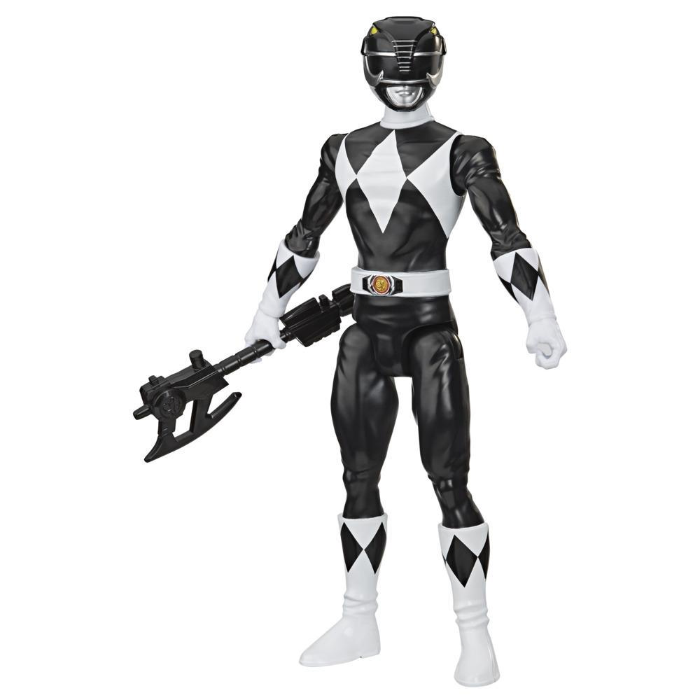Power Rangers Mighty Morphin Black Ranger 12-Inch Action Figure Toy Inspired by Classic Power Rangers TV Show