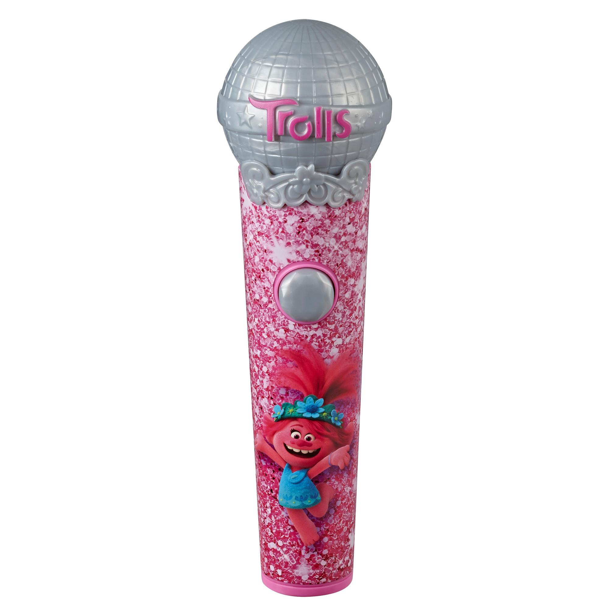 DreamWorks Trolls Poppy's Microphone, Musical Toy with Lights and Sounds, Plays 5 Songs from Movie Trolls World Tour