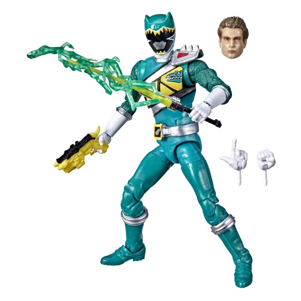 Power Rangers Lightning Collection Dino Charge Green Ranger 6-Inch Premium Collectible Action Figure Toy, Accessories