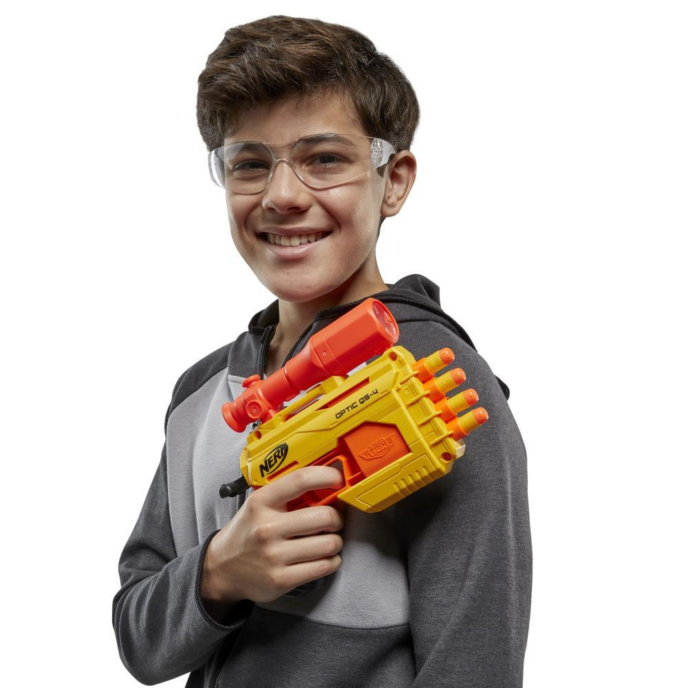 Nerf Alpha Strike Optic QS-4 Duel Targeting Set -- 22-Pieces -- Includes 2 Blasters, 4 Half-Targets, 16 Official Nerf Darts