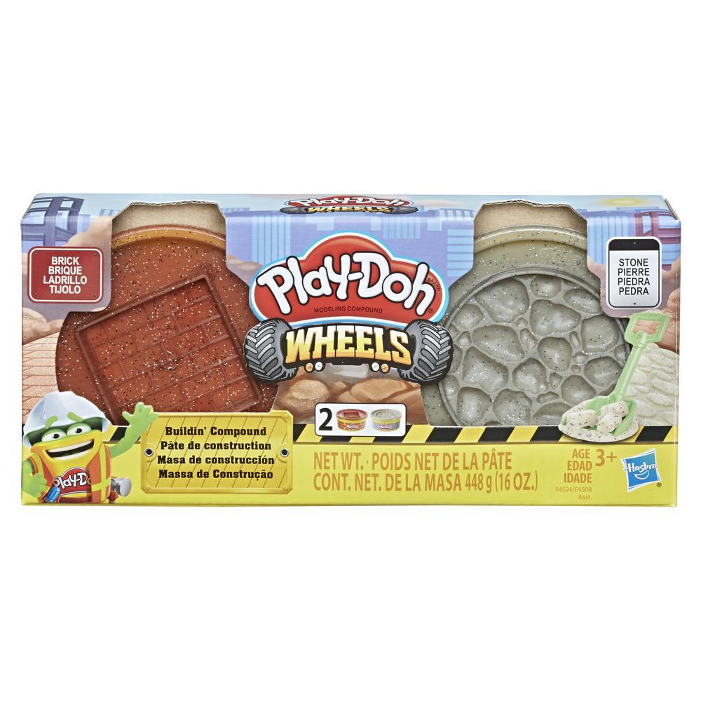 Play-Doh Wheels Brick and Stone Buildin' Compound 2-Pack of 8-Ounce Cans