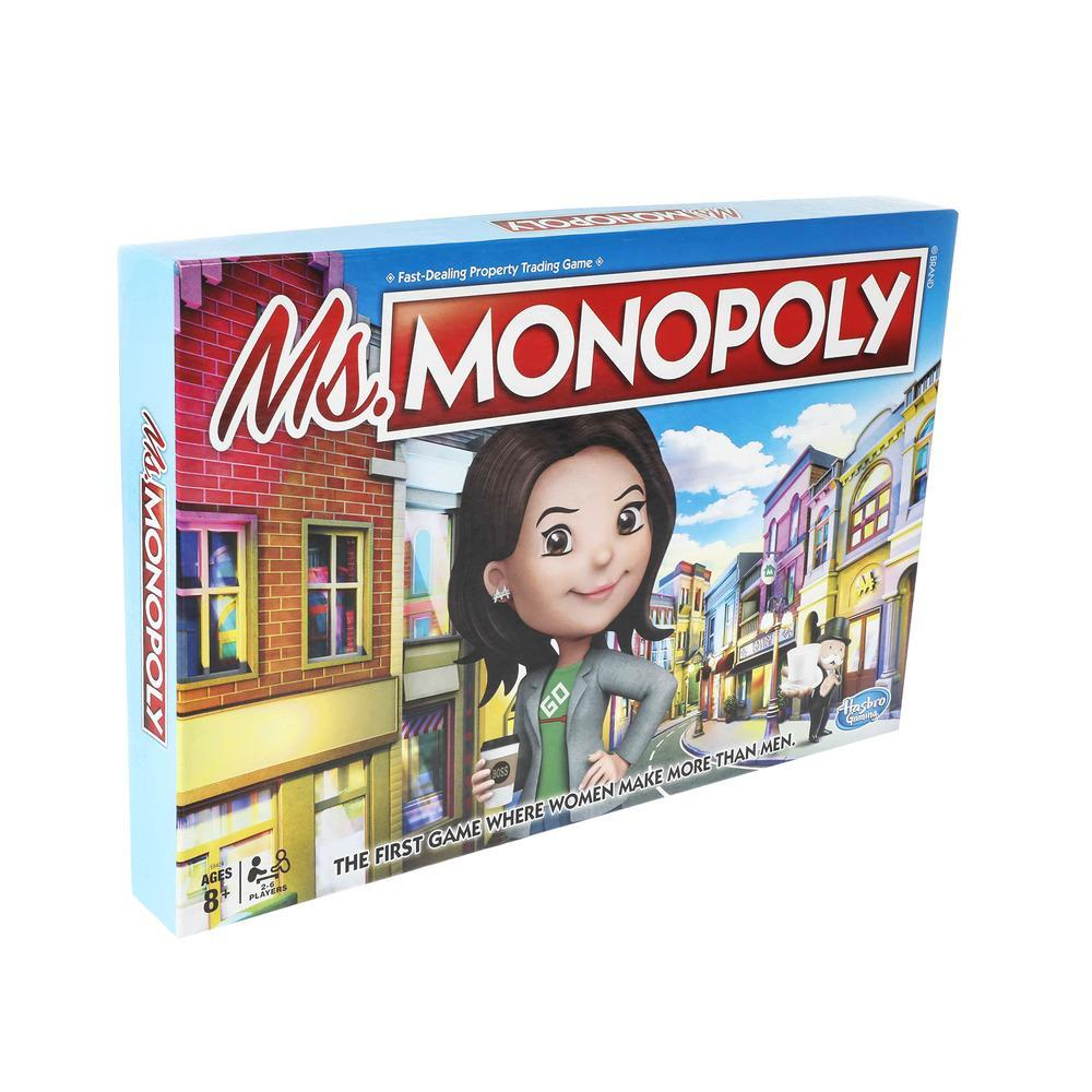 Ms. Monopoly Board Game; First Game Where Women Make More Than Men; Features Inventions by Women; Game for Families and Kids Ages 8 and Up