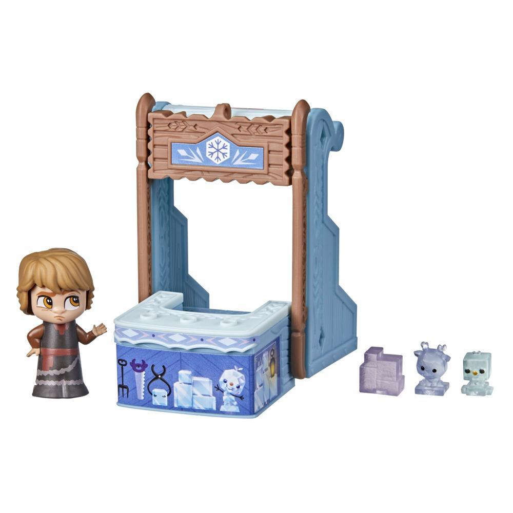 Disney's Frozen 2 Twirlabouts Series 1 Kristoff Sled to Shop Playset, Includes Kristoff Doll and Accessories