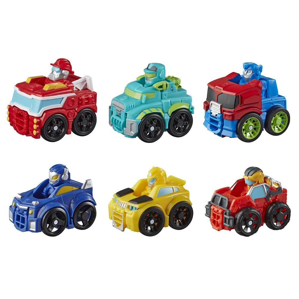 Playskool Heroes Transformers Rescue Bots Academy Mini Bot Racers Converting Robot Toy for Kids Ages 3 and Up