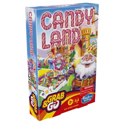 Grab and Go Candy Land Game, Portable Travel Game for Kids Ages 3 and Up