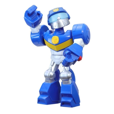 Playskool Heroes Mega Mighties Transformers Rescue Bots Academy Chase the Police-Bot Figure, Toys for Kids Ages 3 and Up