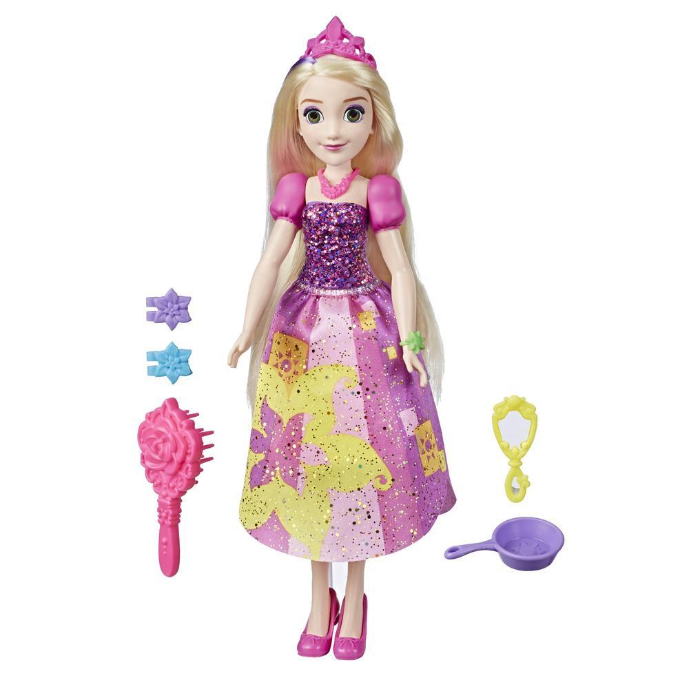Disney Princess Be Bright, Be Bold Rapunzel Fashion Doll Toy, Bold Graphic Dress Design with Brush and Hair Accessories