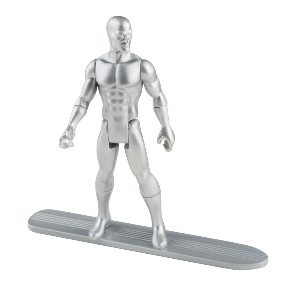 Hasbro Marvel Legends Series 3.75-inch Retro 375 Collection Silver Surfer Action Figure Toy
