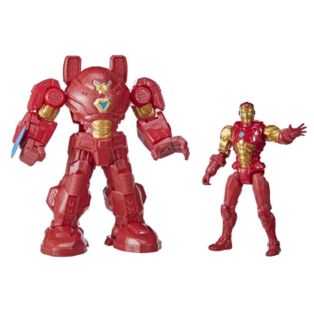 Hasbro Marvel Avengers Mech Strike 8-inch Super Hero Action Figure Toy Ultimate Mech Suit Iron Man, For Kids Ages 4 And Up
