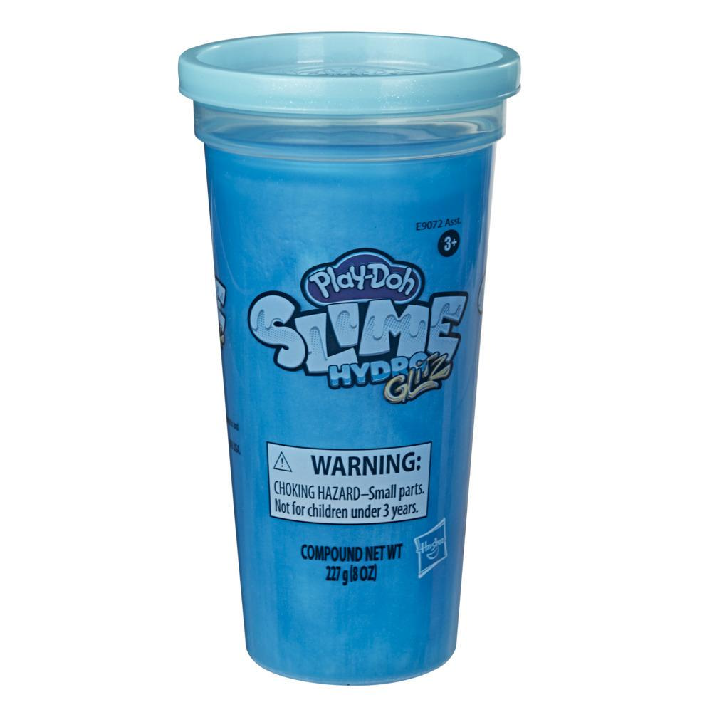 Play-Doh Slime HydroGlitz Metallic Blue Color, Single Can (8 Ounces)