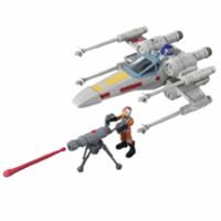 Star Wars Mission Fleet Stellar Class Luke Skywalker X-wing Fighter 2.5-Inch-Scale Figure and Vehicle, Ages 4 and Up