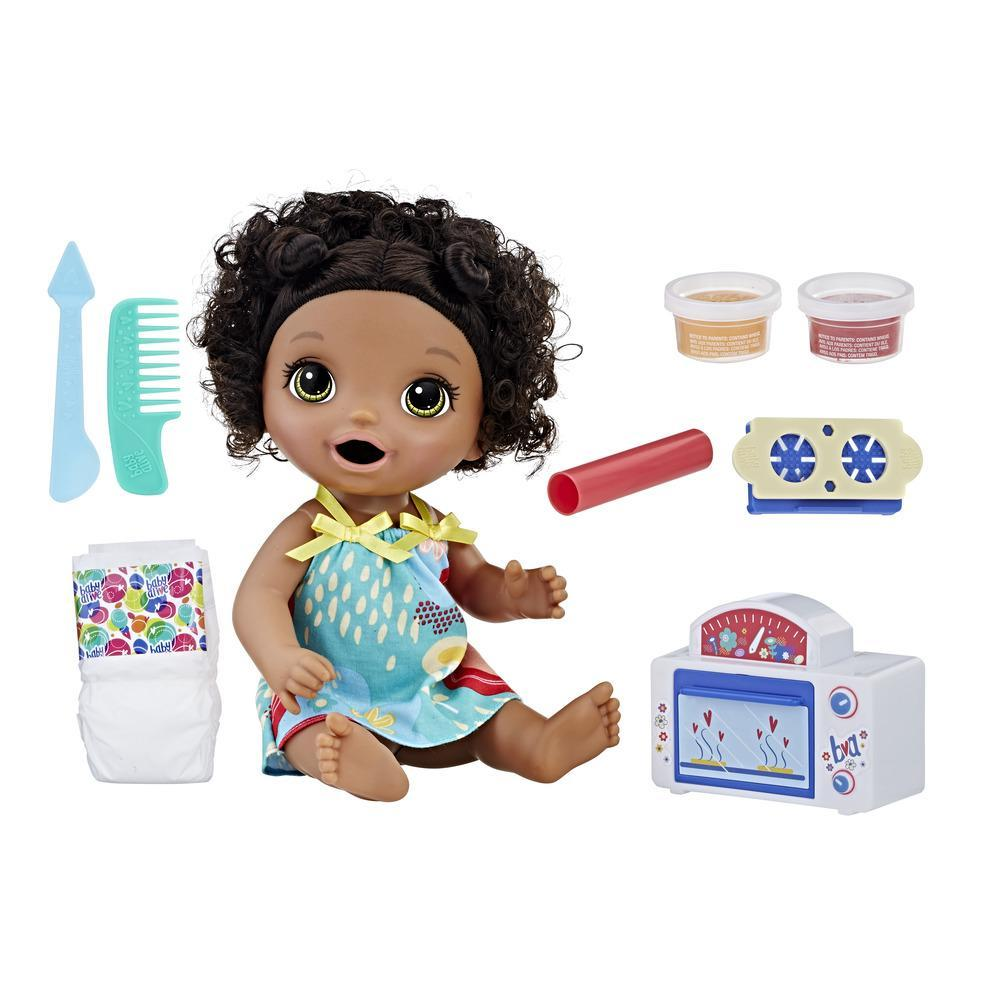 Baby Alive Snackin' Treats Baby (Black Curly Hair)