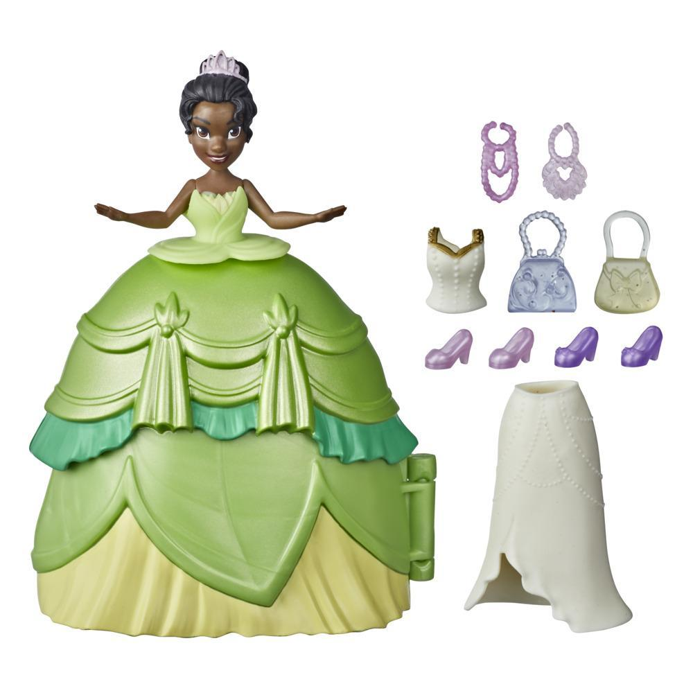 Disney Princess Secret Styles Fashion Surprise Tiana, Doll Playset with Clothes and Accessories, Toy for Girls 4 and Up