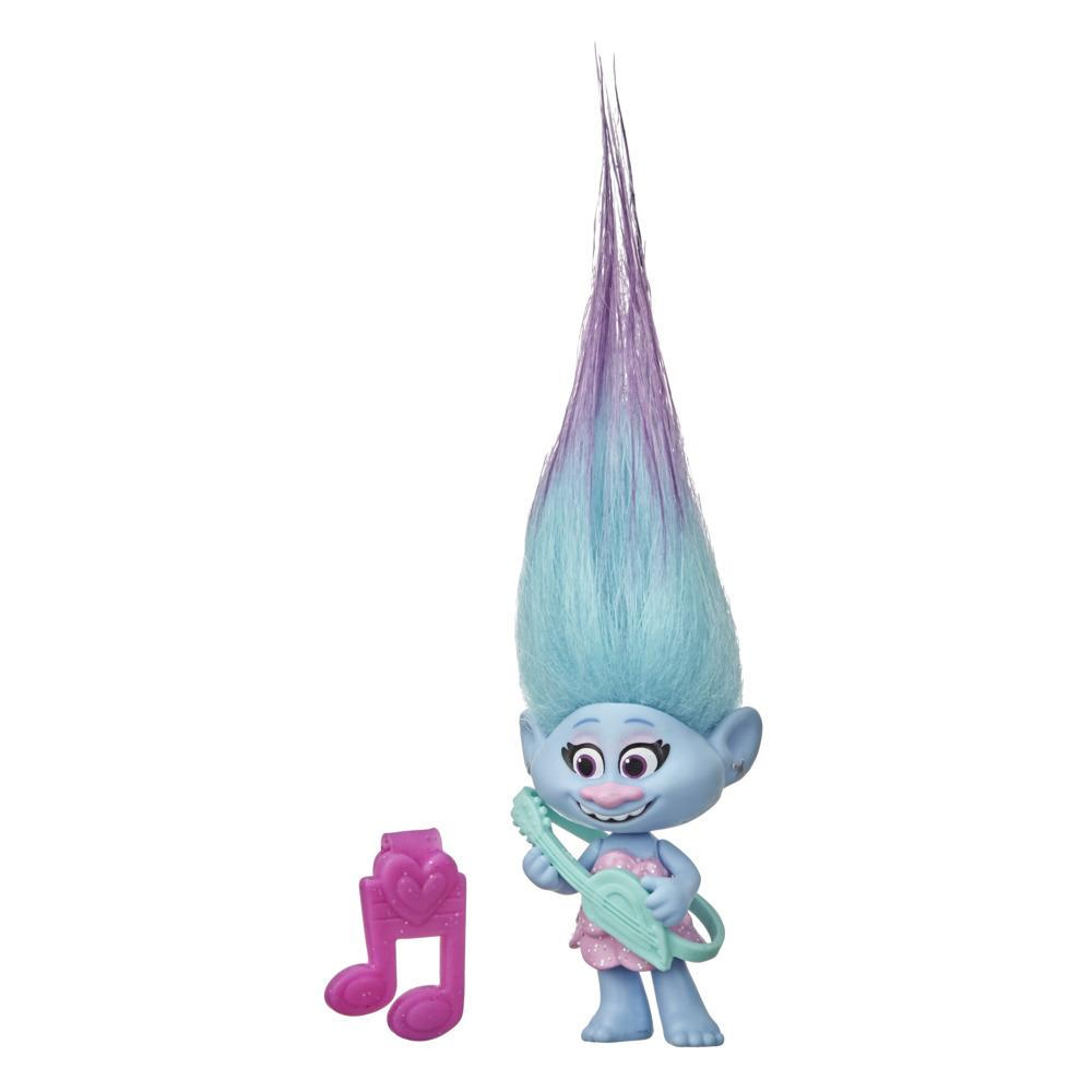 DreamWorks Trolls World Tour Chenille Collectible Doll with Guitar Accessory, Toy Inspired by the Movie Trolls World Tour