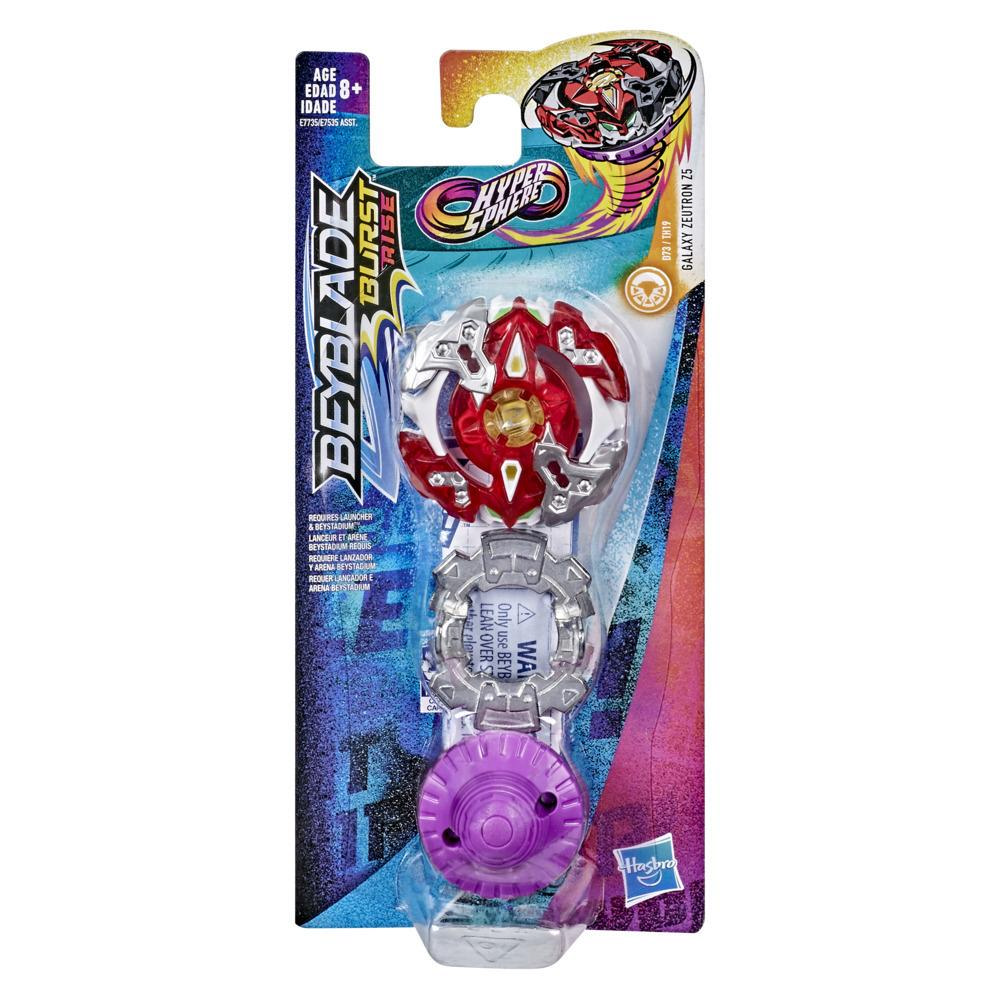 Beyblade Burst Rise Hypersphere Galaxy Zeutron Z5 Single Pack -- Stamina Type Battling Top Toy, Ages 8 and Up