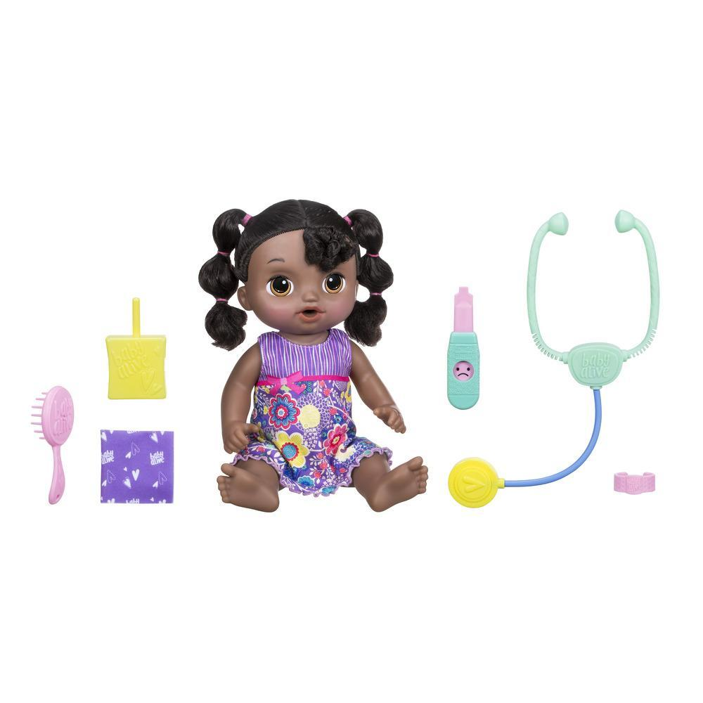 Baby Alive Sweet Tears Baby - Black Curly Hair