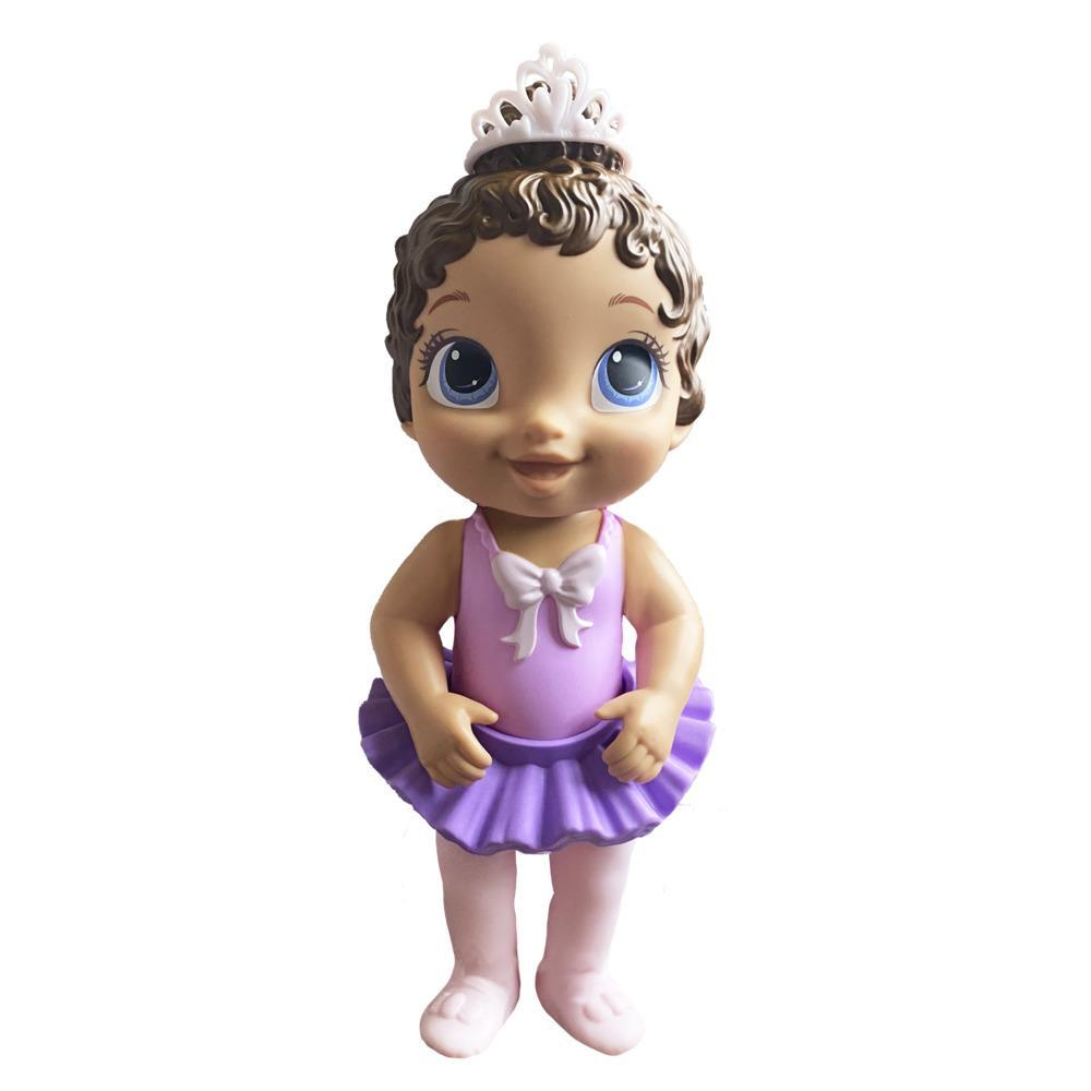 Baby Alive Sweet Ballerina Baby Doll, Purple, Ballet Doll, Tutu Skirt, Tiara, Brown Hair Toy for Kids Ages 3 Years and Up