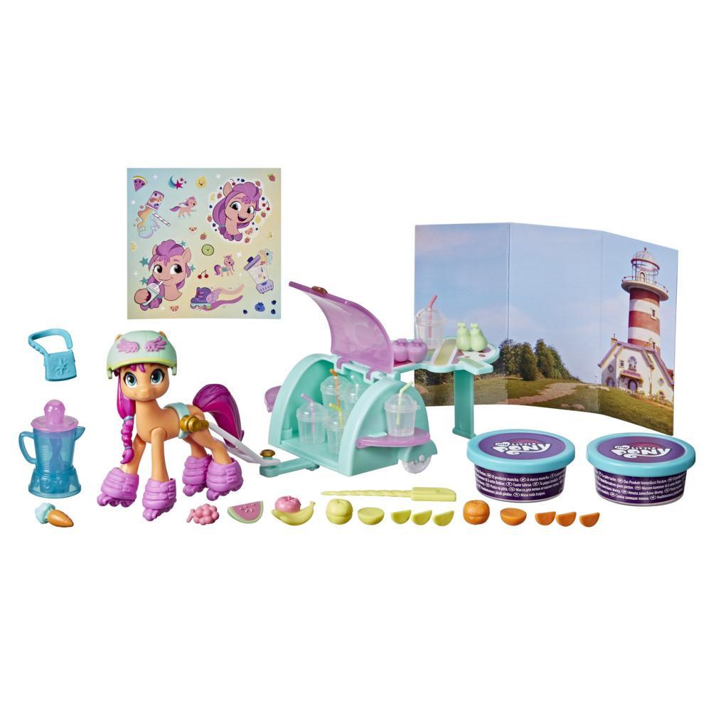 My Little Pony: A New Generation MovieStory Scenes Mix and Make Sunny Starscout - 25 Accessories and Pony Toy
