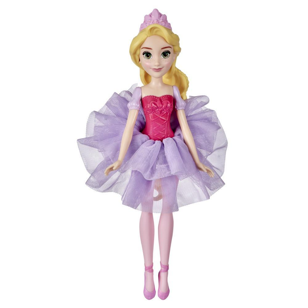 Disney Princess Water Ballet Rapunzel Doll, Outfit Changes Color in Warm Water, Toy for Girls Ages 3 Years and Up