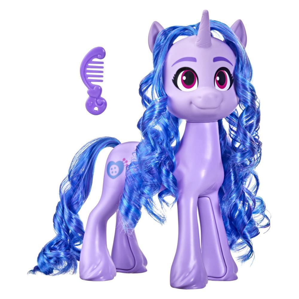 My Little Pony: A New Generation Mega Movie Friends Izzy Moonbow -- 8-Inch Purple Pony Toy with Comb