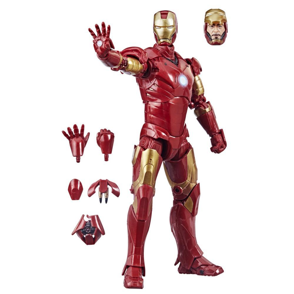 Hasbro Marvel Legends Series 6-inch Scale Action Figure Toy Iron Man Mark 3, Includes Premium Design and 5 Accessories