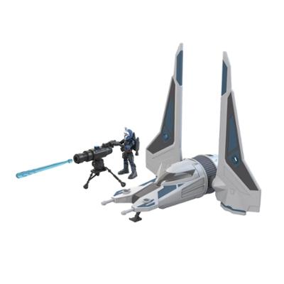Star Wars Mission Fleet Stellar Class Bo-Katan Gauntlet Starfighter Starfighter Siege 2.5-Inch-Scale Figure & Vehicle