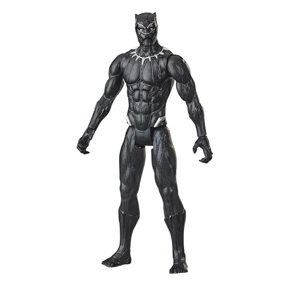 Marvel Avengers Titan Hero Series Collectible 12-Inch Black Panther Action Figure, Toy For Ages 4 and Up