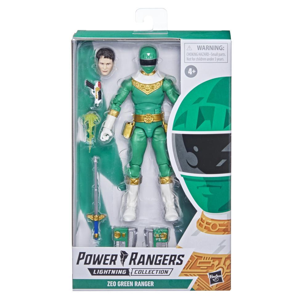 Power Rangers Lightning Collection Zeo IV Green Ranger 6-Inch Premium Collectible Action Figure Toy with Accessories