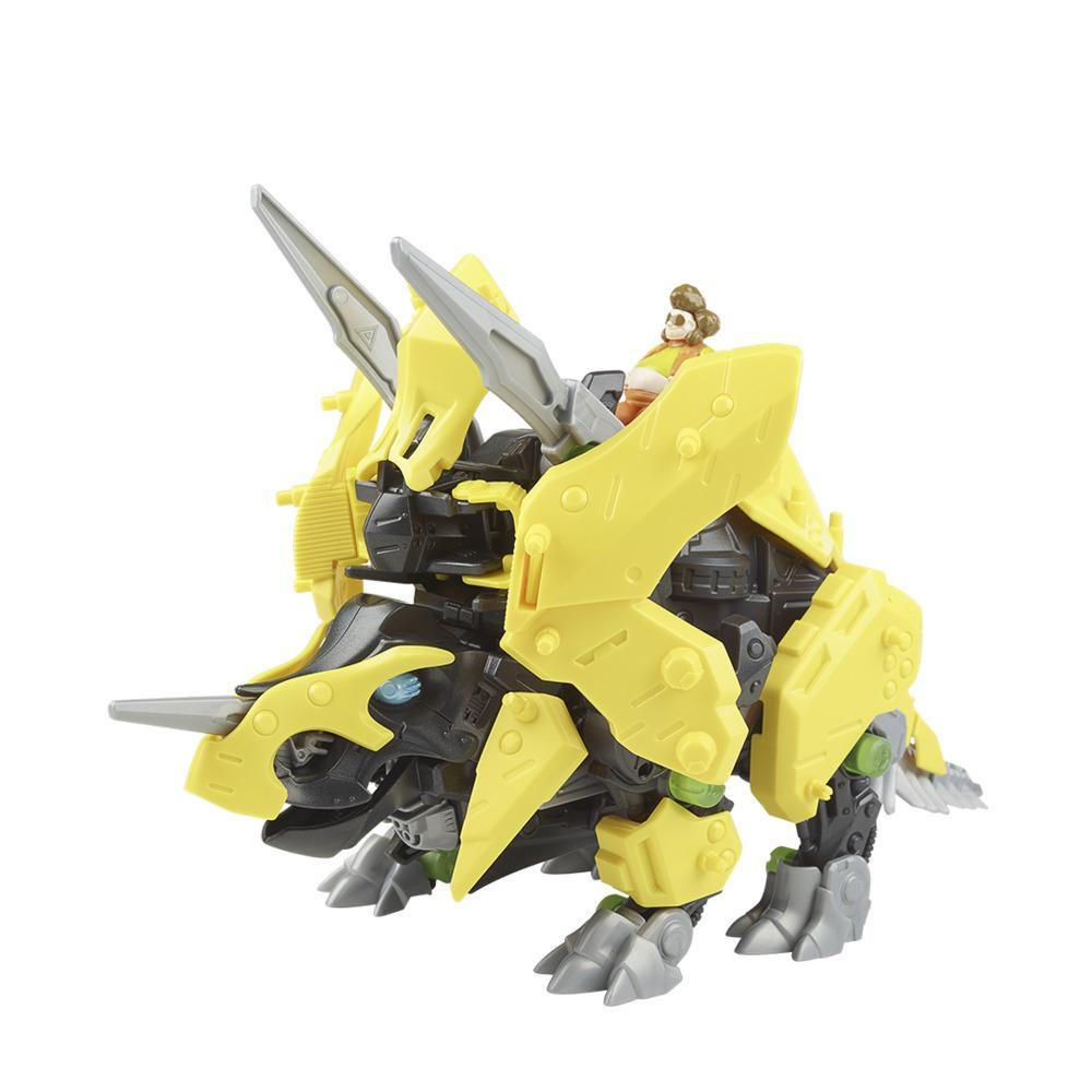 Zoids Giga Battlers Tryke - Triceratops -Type Buildable Beast Figure, Motorized Motion - Kids Toys Ages 8 and Up, 63 Pieces