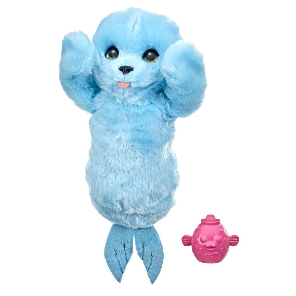 furReal Snorkel the Baby Seal Plush Interactive Peekaboo Toy, Electronic Pet for Kids Ages 4 and up