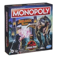Monopoly: Jurassic Park Edition Board Game for Kids Ages 8 and Up