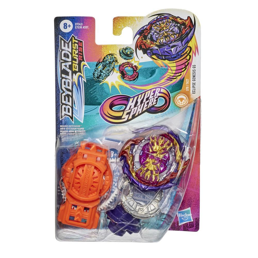 Beyblade Burst Rise Hypersphere Eclipse Genesis G5 Starter Pack -- Stamina Type Battling Game Top and Launcher Toy